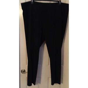 Women's Apt 9 dressy stretch pants, black, size 3X